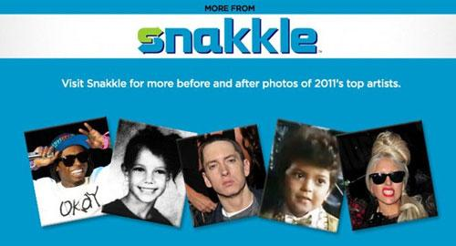"<a target=""_blank"" href=""http://www.snakkle.com/galleries/before-they-were-famous-stars-singers-musicians-top-billboard-charts-in-2011-then-and-now/adele-singing-young-gc-photo/"">View the rest of the gallery at Snakkle.com</a>. Lil Wayne photo by Jason G. Bahr/Getty Images; Eminem photo by Lester Cohen/WireImage; Lady Gaga photo by James Devaney/WireImage."