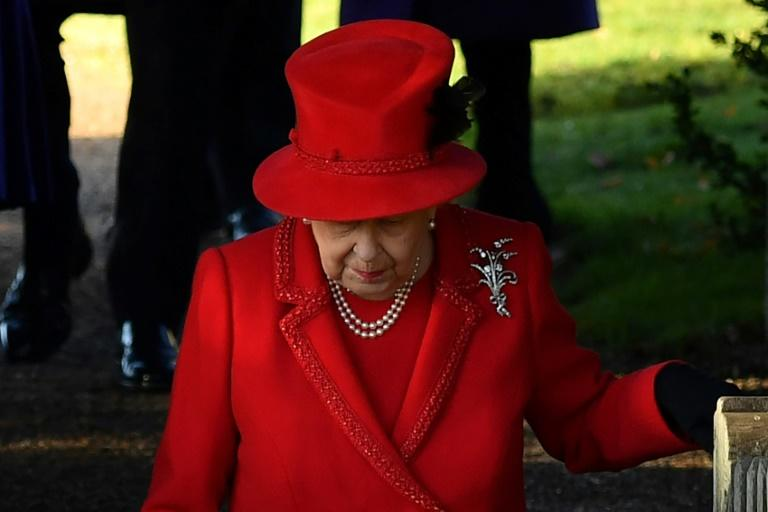 Britain's Queen Elizabeth II attended the royal family's traditional Christmas Day service at St Mary Magdalene Church in Sandringham on December 25