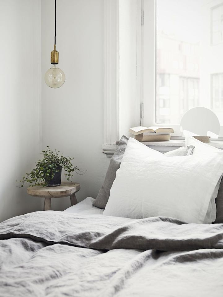 """<p>Even if you love the sleekness of a minimal, mostly white or neutral room, you may find that something still irks you. Take a look at the textures in the room: Do you have a few different ones going on, be it a nubby throw, some shearling pillows, or a paneled wall? """"Add it in small steps to soften and warm things up,"""" Carolyn suggests.</p>"""