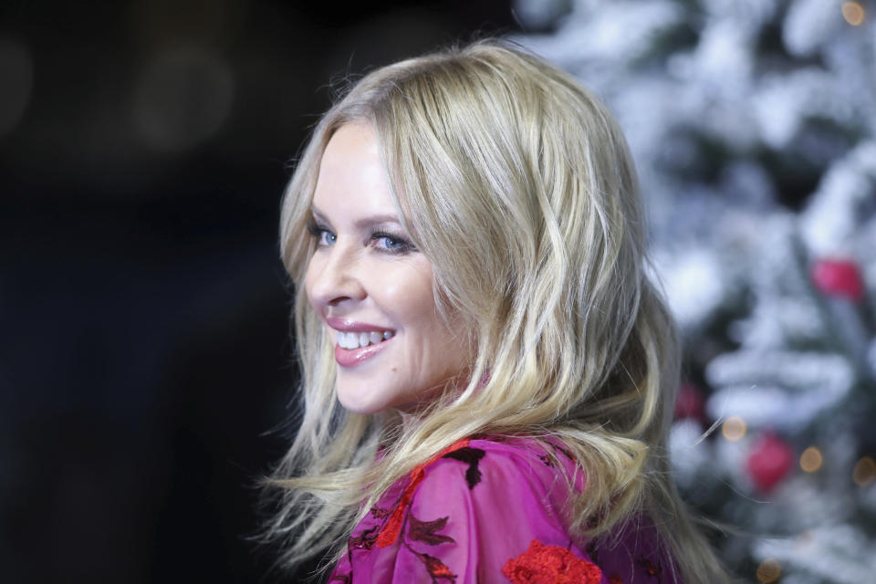 "Photo by: zz/KGC-161/STAR MAX/IPx 2019 11/11/19 Kylie Minogue at the premiere of ""Last Christmas"" held at the BFI Southbank Cinema on November 11, 2019 in London, England, UK."