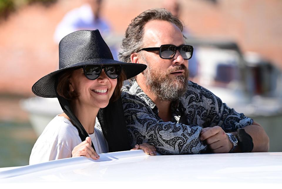 <p>Maggie Gyllenhaal and Peter Sarsgaard arrive at the 78th Venice International Film Festival on Aug. 31 in Italy.</p>