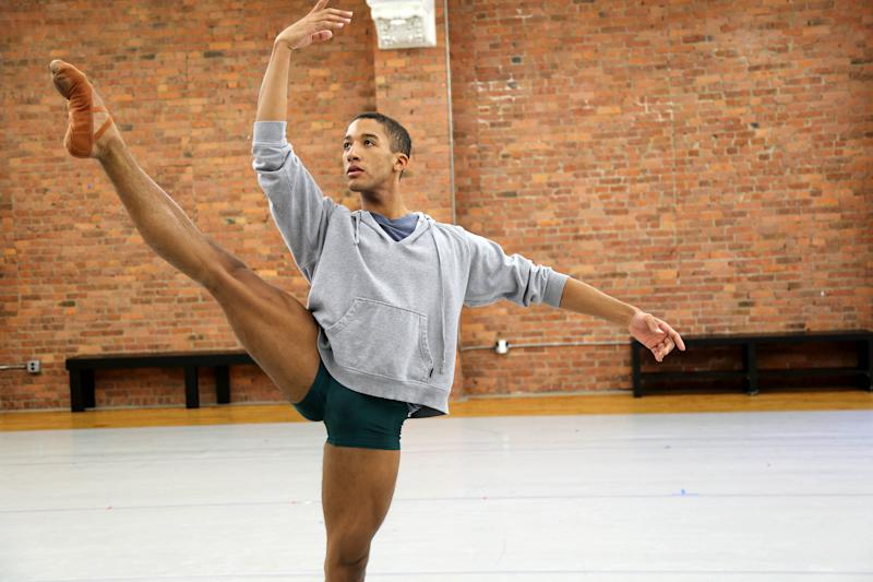 "Houston Ballet dancer Harper Watters in a scene from the documentary ""Danseur."" (NuArts Productions)"