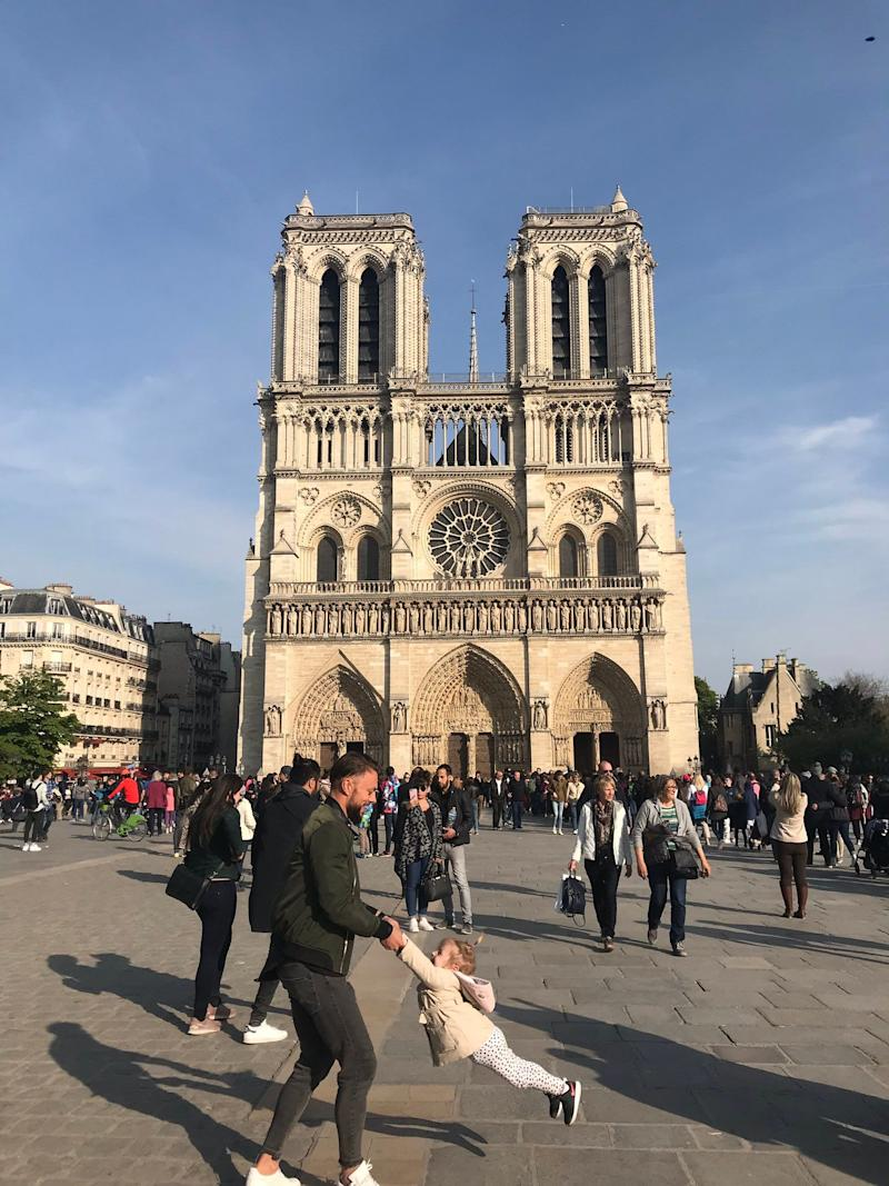 Michigan native Brooke Windsor took this picture in Paris, France, an hour before the Notre Dame Cathedral was on fire Monday, April 15, 2019.