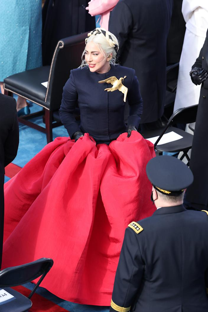 Lady Gaga (in Schiaparelli)