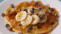 """<p>When your alarm goes off way too early, alone time is definitely necessary in the morning. This recipe ensures that you can eat a bomb breakfast even when you're hanging solo.</p><p>Get the recipe from <a href=""""https://www.delish.com/cooking/recipe-ideas/recipes/a48450/pancake-for-one-recipe/"""" rel=""""nofollow noopener"""" target=""""_blank"""" data-ylk=""""slk:Delish"""" class=""""link rapid-noclick-resp"""">Delish</a>.</p>"""