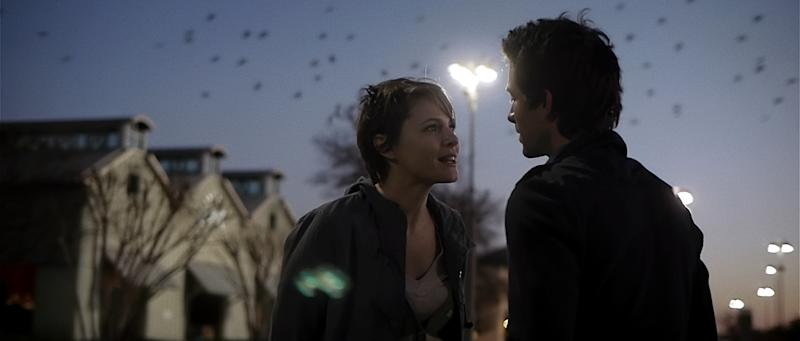 "This film image released by ERBP Films shows Amy Seimetz, left, and Shane Carruth in a scene from ""Upstream Color."" (AP Photo/ERBP Films)"