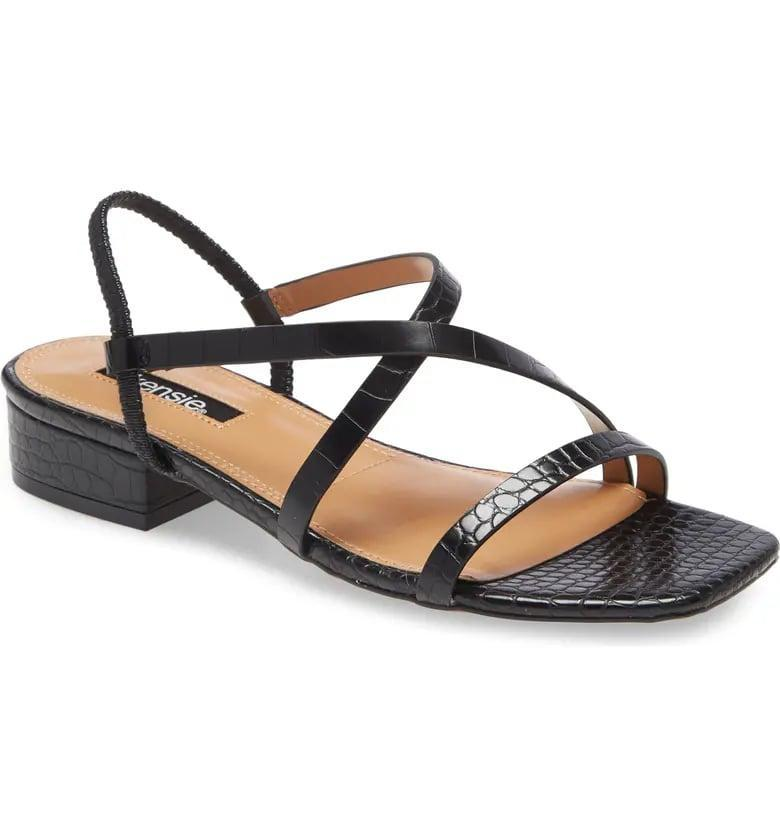 <p>These <span>Kensie Conley Sandals</span> ($60) are lovely.</p>