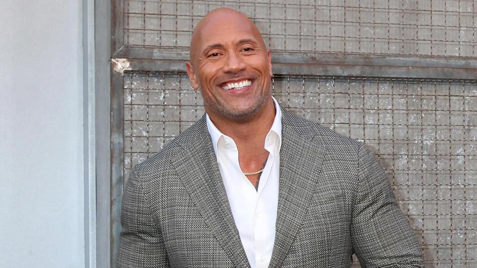 """LOS ANGELES - APR 4: Dwayne Johnson, The Rock at the """"Rampage"""" Premiere at Microsoft Theater on April 4, 2018 in Los Angeles, CA."""