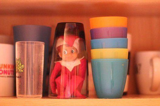 Because this is the first thing you want to see in the morning when you open up your cupboards.