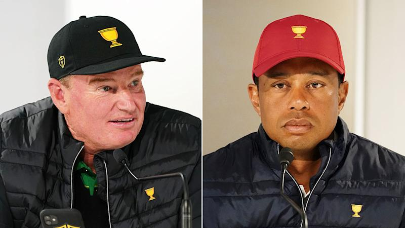 Presidents Cup captains Ernie Els and Tiger Woods have differing opinions on the Aussie crowds.