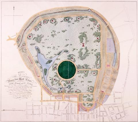 The original plan for Regent's Park featured dozens of villas for the friends of the extravagant future George IV - Credit: GETTY