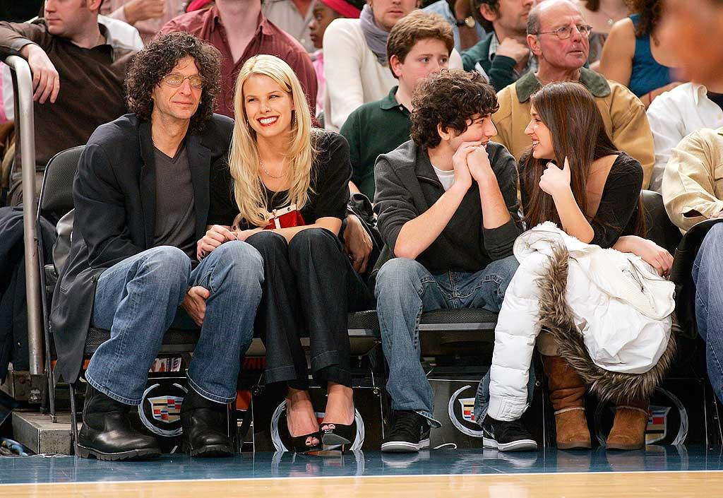 "Shock jock Howard Stern and fiancee Beth Ostrosky double dated with Howard's daughter Ashley. Howard and Beth kept their eyes on the Knicks game, while Ashley only had eyes for her beau. Anthony J. Causi/<a href=""http://www.splashnewsonline.com"" target=""new"">Splash News</a> - December 9, 2007"