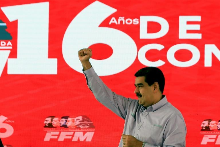 President Nicolas Maduro warned that he would be 'ruthless' with the opposition if they attempted a coup (AFP Photo/HO)