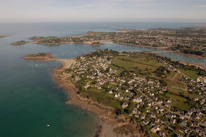 The resort town of Saint-Briac-sur-Mer in western France, along Brittany's famed Emerald coast on the Atlantic Ocean