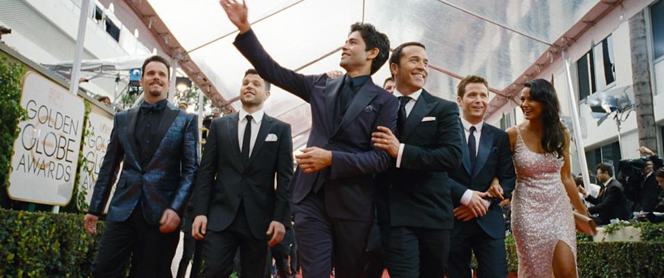 The cast of 'Entourage' in the 2015 film version of the popular HBO series (Warner Bros. Pictures/courtesy Everett Collection)