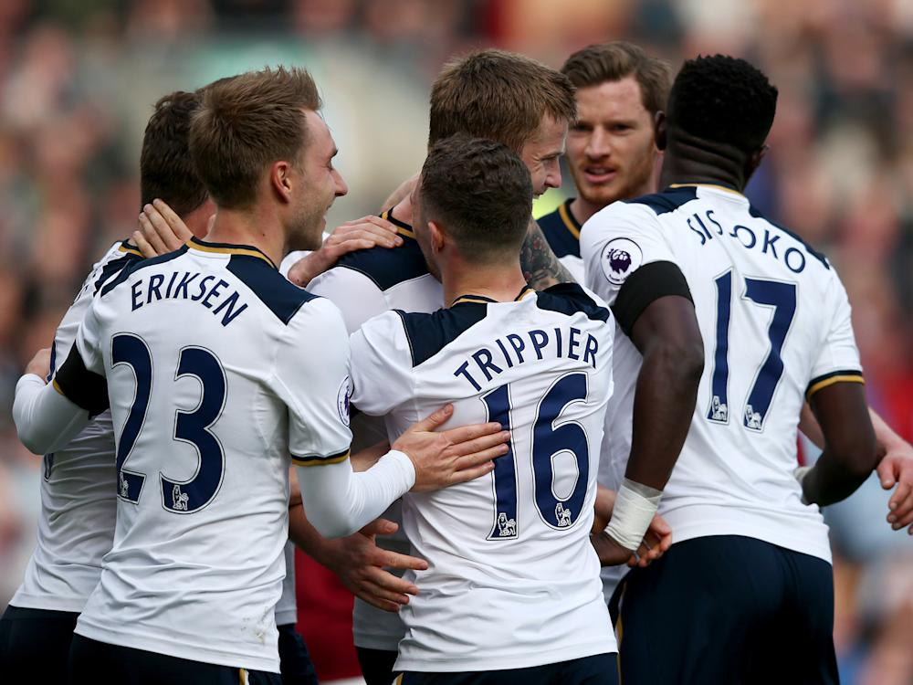Tottenham went within seven points of league leaders Chelsea with nine games remaining: Getty
