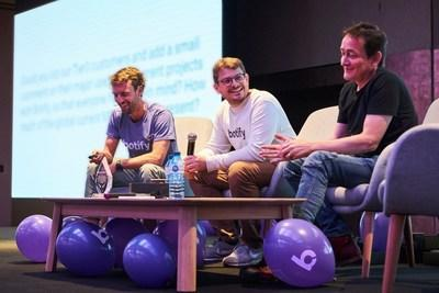 The Botify Founders, from left to right: Adrien Menard, Thomas Grange, and Stan Chauvin