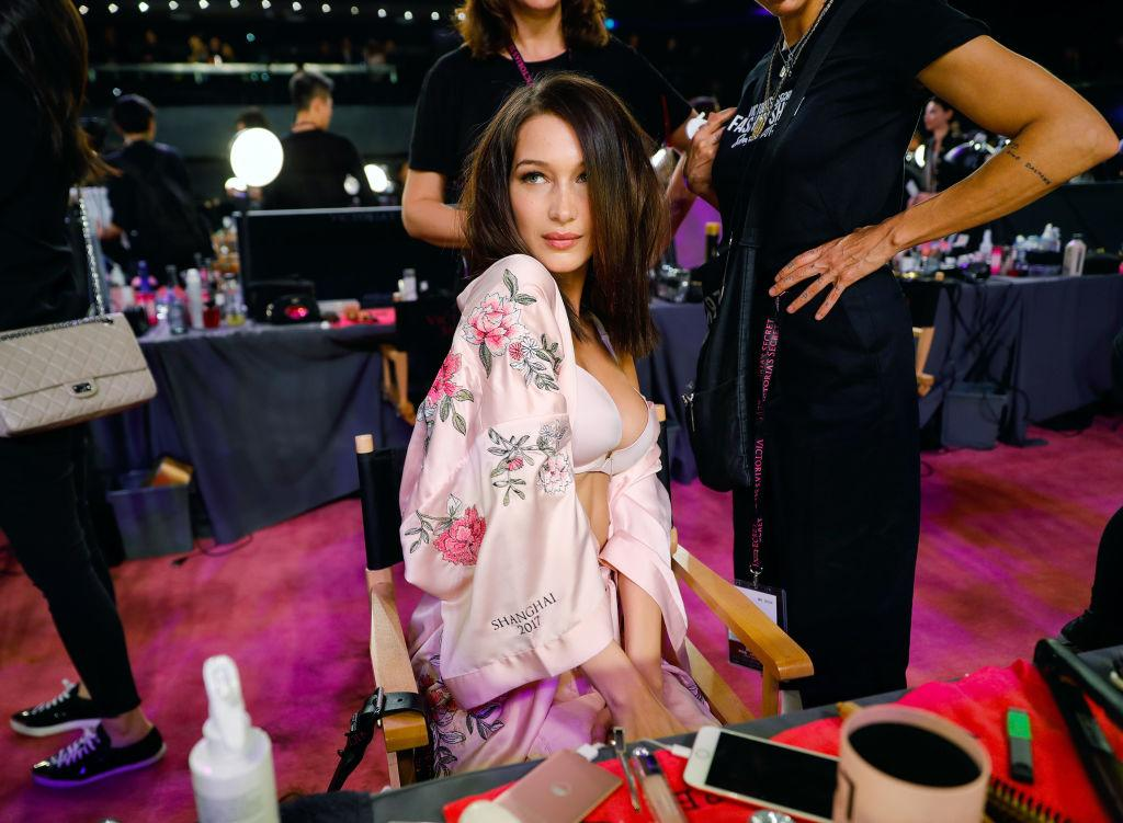 <p>Although Gigi Hadid is not walking the runway this year, sister Bella is donning the famous bejwelled lingerie for a second year running. <em>[Photo: Getty]</em> </p>