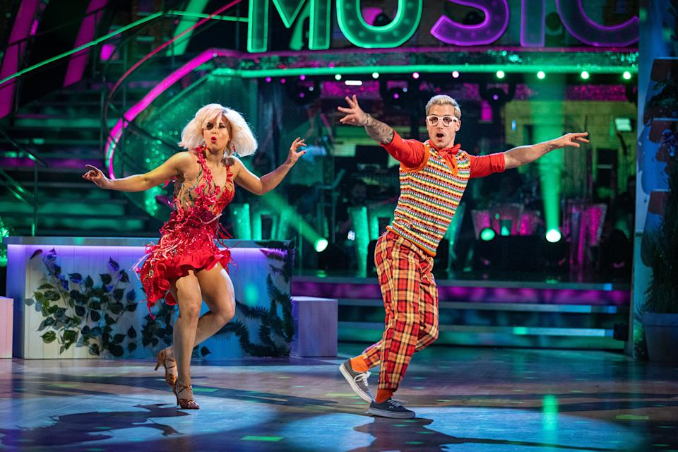Maisie and Gorka performing their Strictly Jive (C) BBC - Photographer: Guy Levy