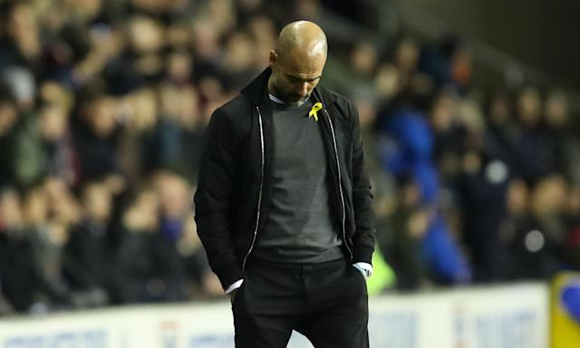 Pep Guardiola's deposition pointed out that he had the ribbon covered before half-time at Wigan and it only became visible accidentally during the second half.