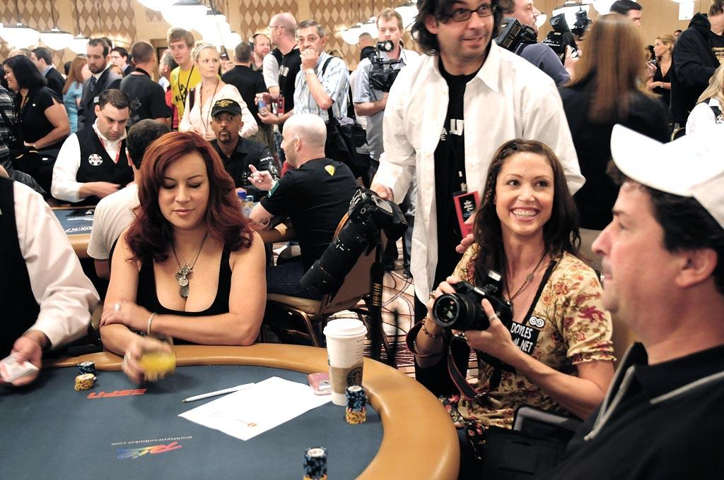"Don't underestimate Jennifer Tilly and Shannon Elizabeth! Jen's earned a World Series of Poker bracelet after winning a major tournament, while Shannon has beaten many poker pros in past games. Bruce Gilford/<a href=""http://www.filmmagic.com/"" target=""new"">FilmMagic.com</a> - July 2, 2008"