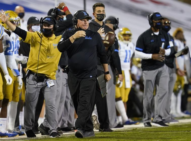 UCLA head coach Chip Kelly in the second half of an NCAA college football game Saturday, Nov. 7, 2020.