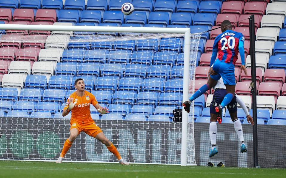 Crystal Palace's Christian Benteke scored in the first half - Getty