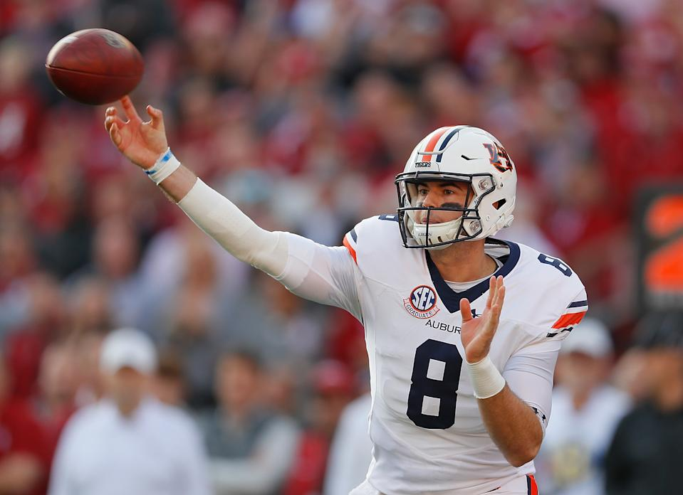 Jarrett Stidham endured some ups and downs at Auburn but also showed enough positives to project NFL success. (Photo by Kevin C. Cox/Getty Images)