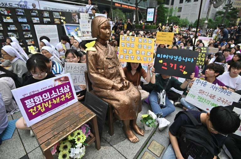 Relations between Tokyo and Seoul are strained by Japan's early 20th century colonial rule over the Korean peninsula, especially sex slavery during WWII