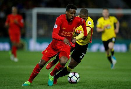 Britain Football Soccer - Watford v Liverpool - Premier League - Vicarage Road - 1/5/17 Watford's Christian Kabasele in action with Liverpool's Divock Origi Action Images via Reuters / Andrew Couldridge Livepic