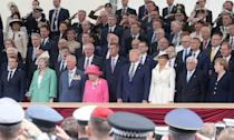<p>During President Trump's state visit to the U.K., he commemorated the 75th anniversary of the D-Day landings, in Portsmouth alongside Queen Elizabeth and many other world leaders.</p>