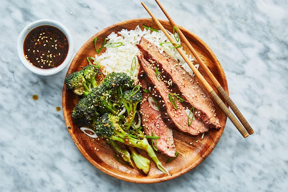 """<a href=""""https://www.bonappetit.com/recipe/grilled-beef-with-broccoli?mbid=synd_yahoo_rss"""" rel=""""nofollow noopener"""" target=""""_blank"""" data-ylk=""""slk:See recipe."""" class=""""link rapid-noclick-resp"""">See recipe.</a>"""