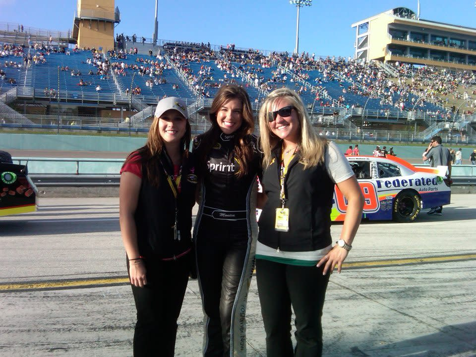 <em>Before joining Jimmie Johnson's social media team and starting her own company, Lauren Edwards was a weekly presence at tracks while working on the Miss Sprint Cup account (Lauren Edwards).</em>