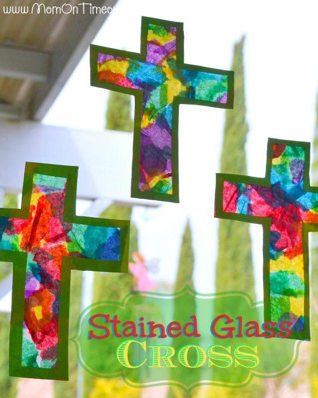 """<p>Kids of all ages will enjoy creating these beautiful stained glass crosses to hang in the window for Easter morning.</p><p><strong>Get the tutorial at <a href=""""https://www.momontimeout.com/stained-glass-cross-easter-craft/"""" rel=""""nofollow noopener"""" target=""""_blank"""" data-ylk=""""slk:Mom on Timeout"""" class=""""link rapid-noclick-resp"""">Mom on Timeout</a>.</strong></p><p><strong><a class=""""link rapid-noclick-resp"""" href=""""https://www.amazon.com/ArtVerse-100-Piece-Premium-Wrapping-Assorted/dp/B00FF93ZF8/?tag=syn-yahoo-20&ascsubtag=%5Bartid%7C10050.g.30928377%5Bsrc%7Cyahoo-us"""" rel=""""nofollow noopener"""" target=""""_blank"""" data-ylk=""""slk:SHOP TISSUE PAPER"""">SHOP TISSUE PAPER</a><br></strong></p>"""