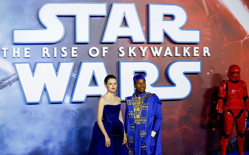 Daisy Ridley and John Boyega at the premiere of Star Wars: The Rise of Skywalker in London in 2019 - Henry Nicholls/Reuters