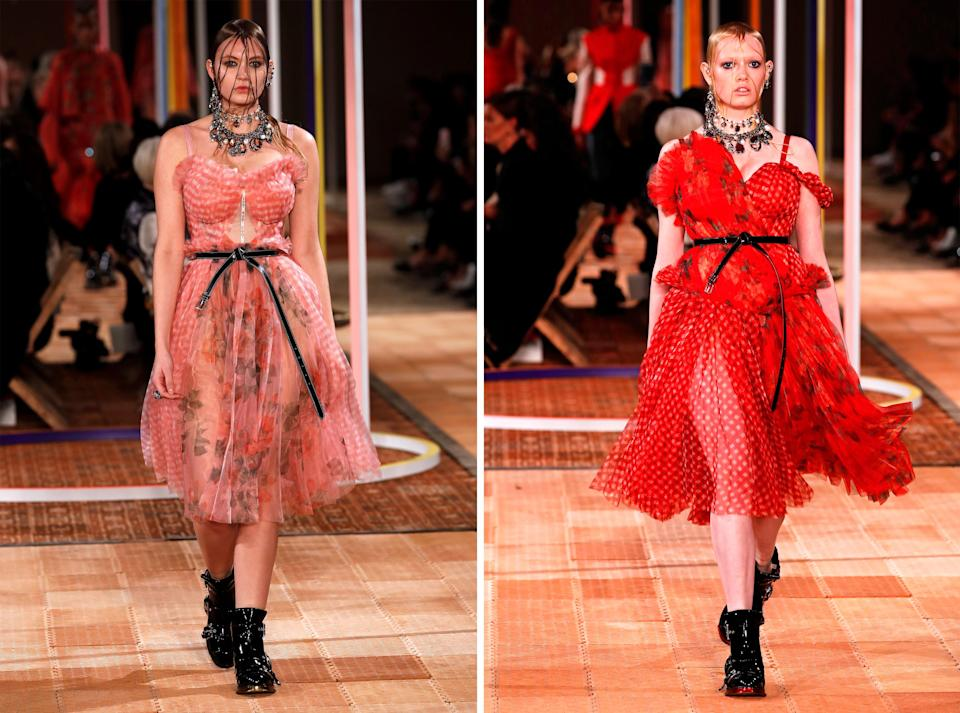 Alexander McQueen broke the old-fashioned Paris Fashion Week rules by casting two curvy models in its SS18 show [Photo: Getty]