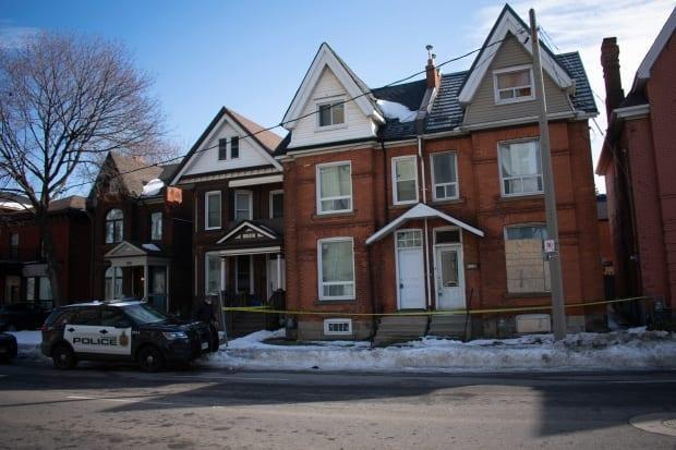Hamilton police say they found the body of a buried baby at a home in the Beasley neighbourhood.