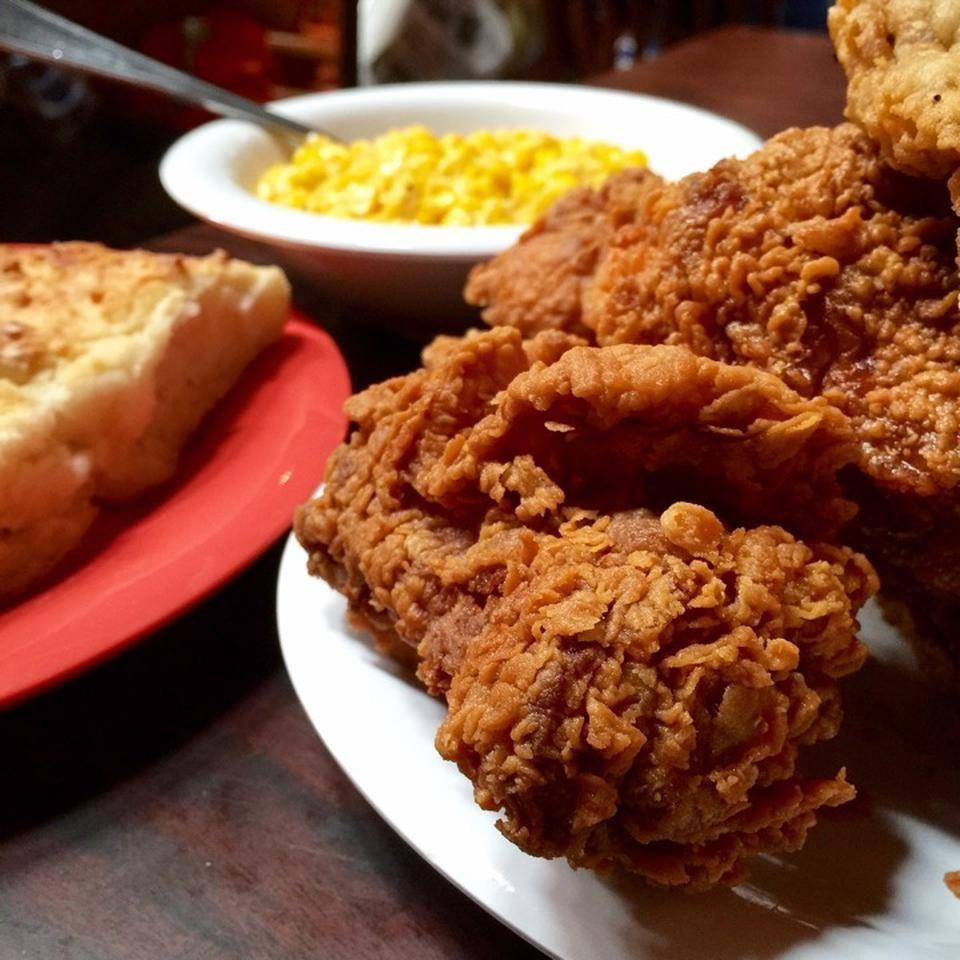 """<p><a href=""""https://www.tripadvisor.com/Restaurant_Review-g56555-d460676-Reviews-Babe_s_Chicken_Dinner_House-Roanoke_Texas.html"""" rel=""""nofollow noopener"""" target=""""_blank"""" data-ylk=""""slk:Babe's Chicken Dinner House"""" class=""""link rapid-noclick-resp"""">Babe's Chicken Dinner House</a>, Roanoke</p><p>All you can eat chicken fried chicken or chicken fried steak with sides served family style. There is always a huge wait so give yourself plenty of time.<span class=""""redactor-invisible-space""""> - Foursquare user <a href=""""https://foursquare.com/bombproof"""" rel=""""nofollow noopener"""" target=""""_blank"""" data-ylk=""""slk:Adam Stallman"""" class=""""link rapid-noclick-resp"""">Adam Stallman</a></span><br></p>"""