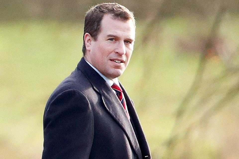 Peter Phillips attend Sunday service at the Church of St Mary Magdalene on the Sandringham estate on January 12, 2020 in King's Lynn, England.
