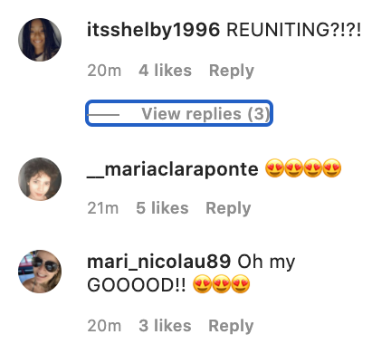Fan comments from Matthew Perry's Instagram post about a Friends reunion