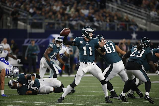 Carson Wentz and the Eagles are in great shape for the postseason. (AP)