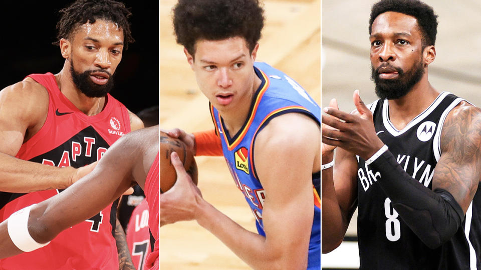 Khem Birch, Isaiah Roby and Jeff Green, pictured here in action in the NBA.