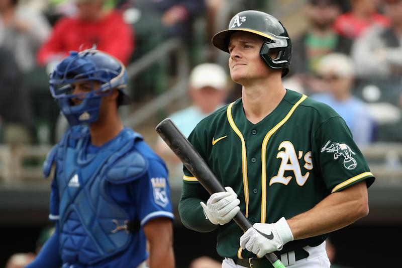 A's All-Star Matt Chapman vents his frustration with team attendance and team's clumsy start to summer camp. (Photo by Christian Petersen/Getty Images)