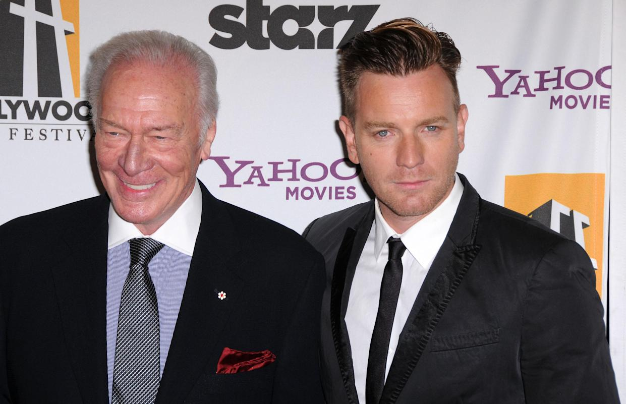 Christopher Plummer and Ewan McGregor arrive at the 15th Annual Hollywood Film Awards gala at the Beverly Hilton hotel on Oct. 24, 2011, in Beverly Hills, Calif.  (Photo: Barry King/FilmMagic)