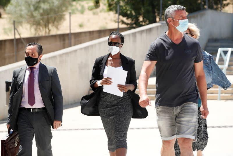 Janice McAfee, a wife of John McAfee, arrives at the Brians 2 prison in Sant Esteve Sesrovires
