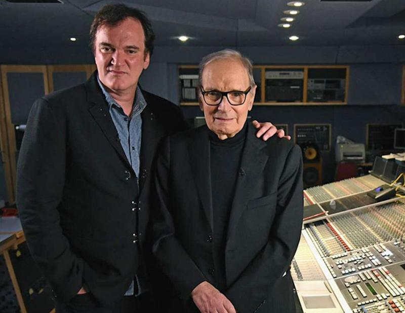 Quentin Tarantino ed Ennio Morricone (Photo: Twitter/ New Beverly Cinema)