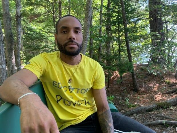 Tyler Simmonds is a filmmaker, mental health advocate and professional speaker from North Preston, N.S.   (Elizabeth Chiu/CBC - image credit)