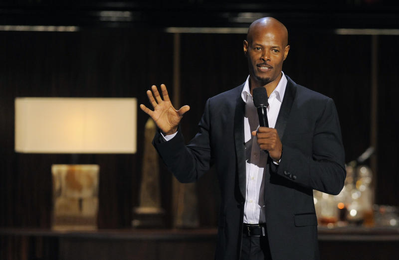 """Comedian Keenan Ivory Wayans performs at """"Eddie Murphy: One Night Only,"""" a celebration of Murphy's career at the Saban Theater on Saturday, Nov. 3, 2012, in Beverly Hills, Calif. (Photo by Chris Pizzello/Invision)"""