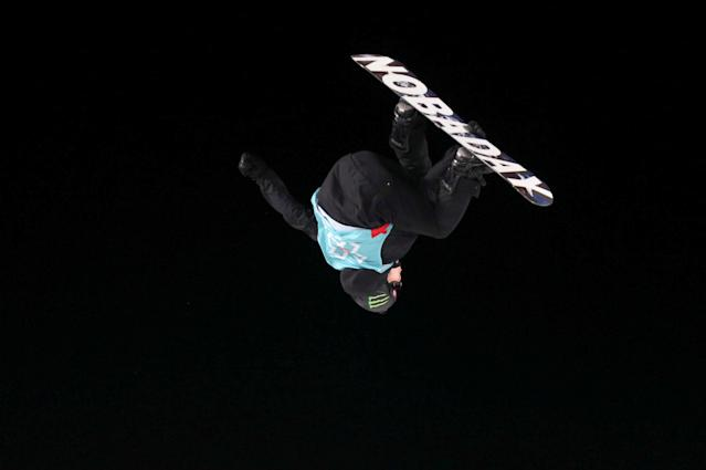 Snowboarding - X Games Men's Big Air Snowboard finals, Hafjell, Norway - 11/03/17 - Silver medalist Max Parrot from Canada.NTB Scanpix/Geir Olsen/via REUTERS ATTENTION EDITORS - THIS IMAGE WAS PROVIDED BY A THIRD PARTY. FOR EDITORIAL USE ONLY. NORWAY OUT. NO COMMERCIAL OR EDITORIAL SALES IN NORWAY. NO COMMERCIAL SALES.