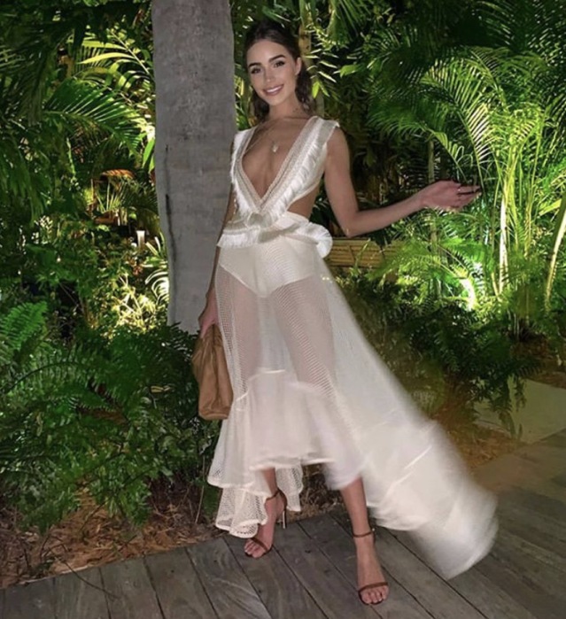 Model Olivia Culpo wore this sheer number to her friend's pre-wedding festivities. Photo: Instagram/Olivia Culpo